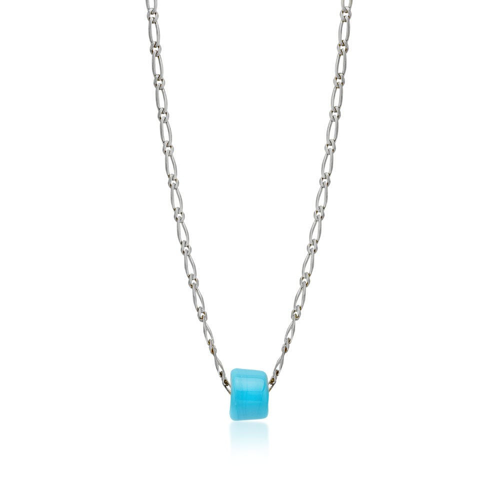 Maisonirem Chain With Blue glass bead Necklaces