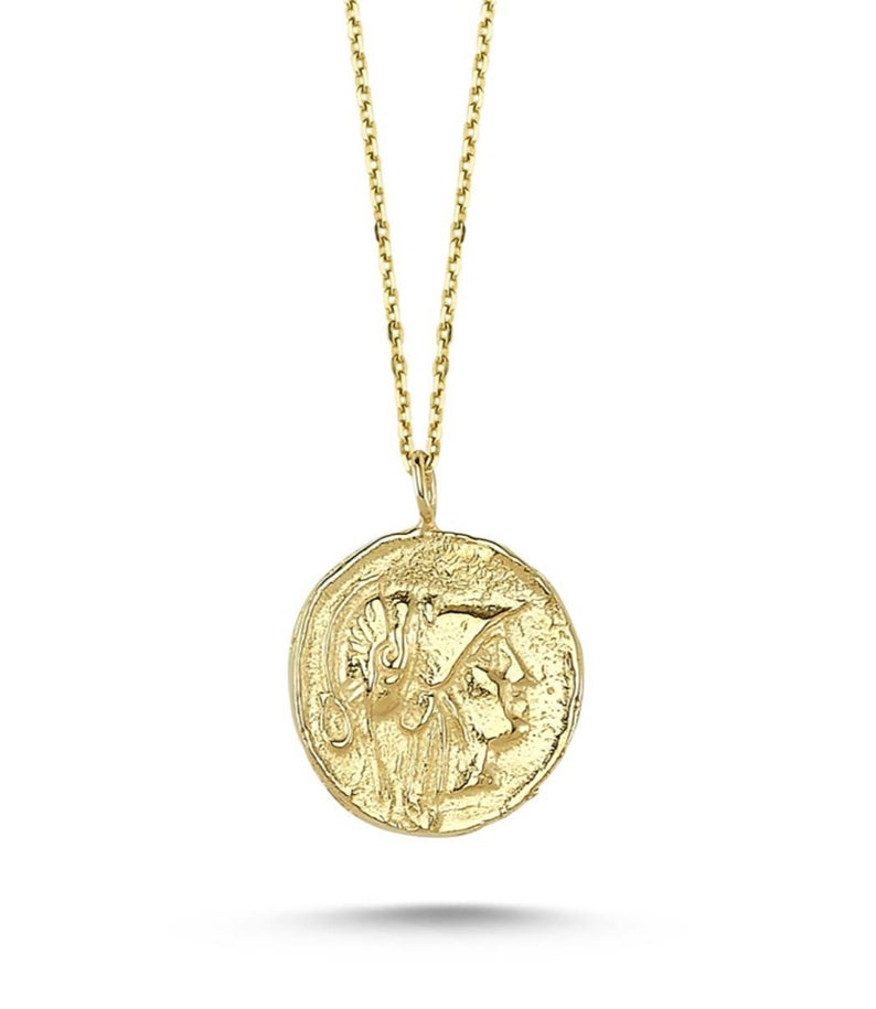 Maisonirem Coin 14k Solid Gold Necklace Fine jewelry