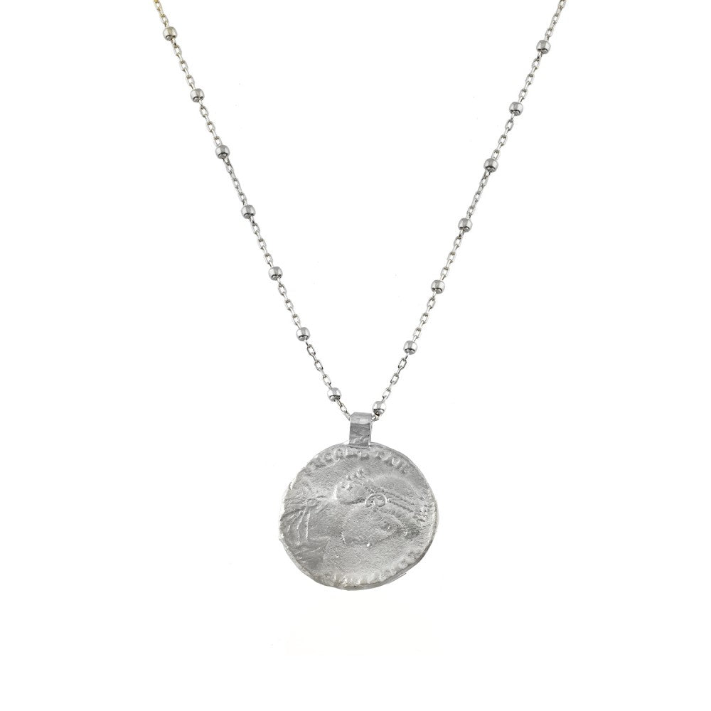 Maisonirem Coin Necklace Troy Necklaces Silver