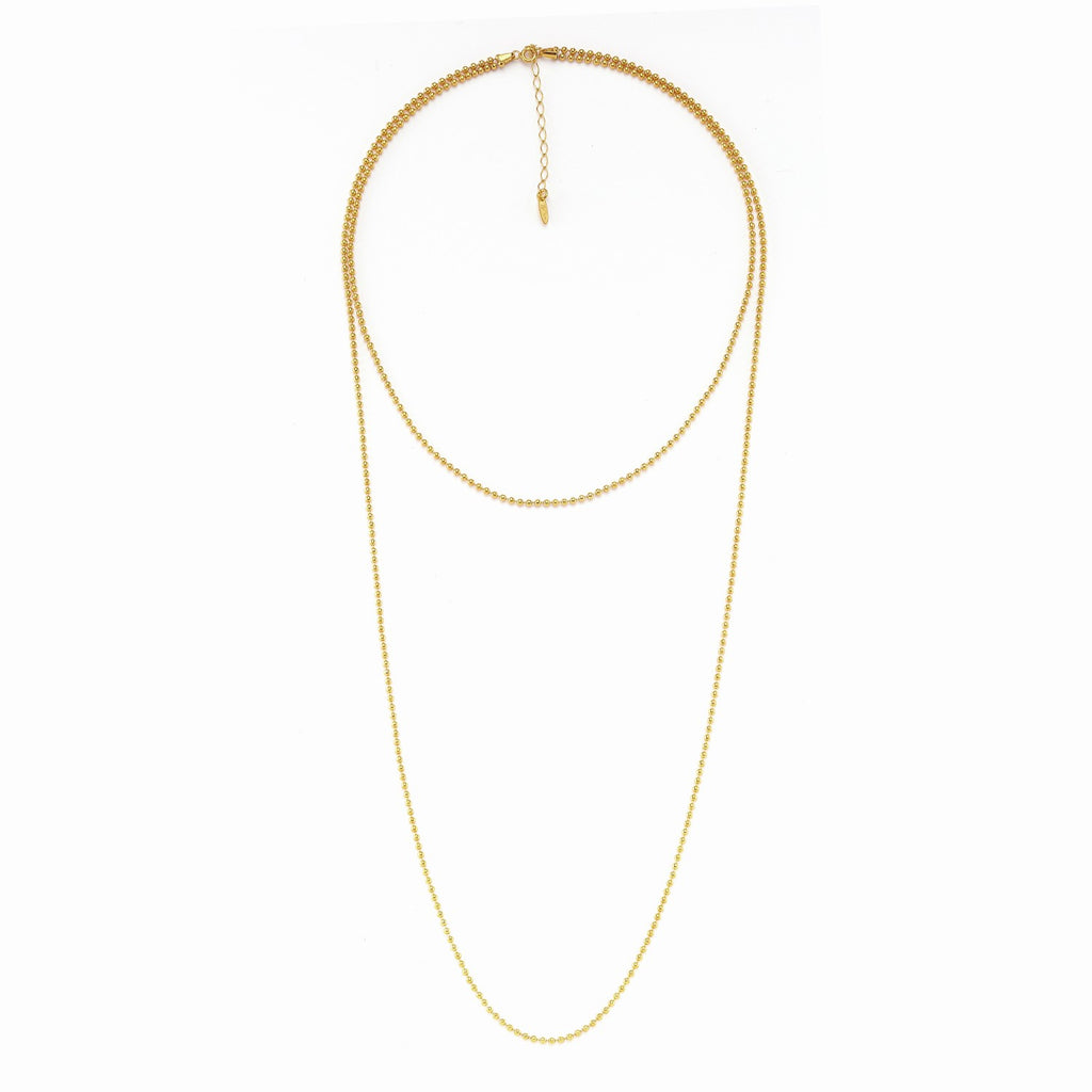 Maisonirem Double Ball Chain Tali Necklaces