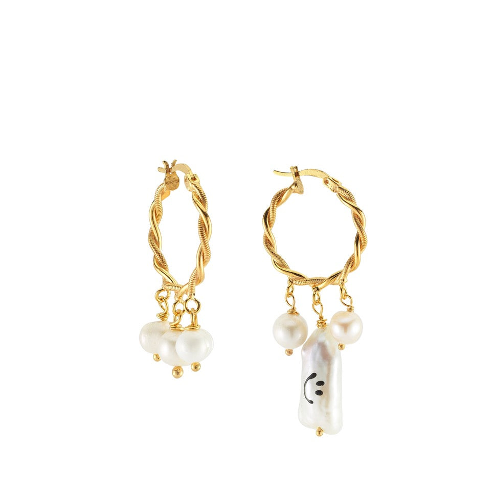 Maisonirem Earrings Smiley Earrings Gold