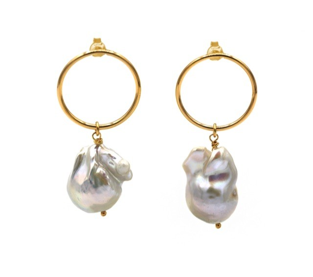 Maisonirem Earrings Baroque Pearl Earrings