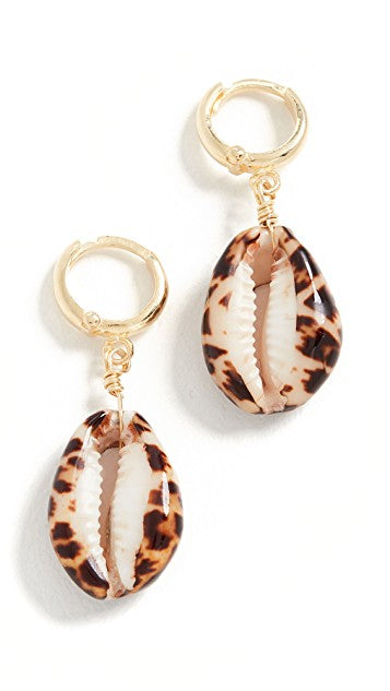 Maisonirem Earrings Shelly Earrings Terracotta Leopard Shell