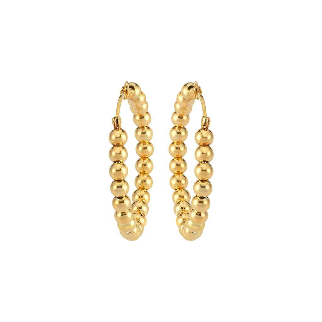 Maisonirem Hoop Ballball Earrings Gold