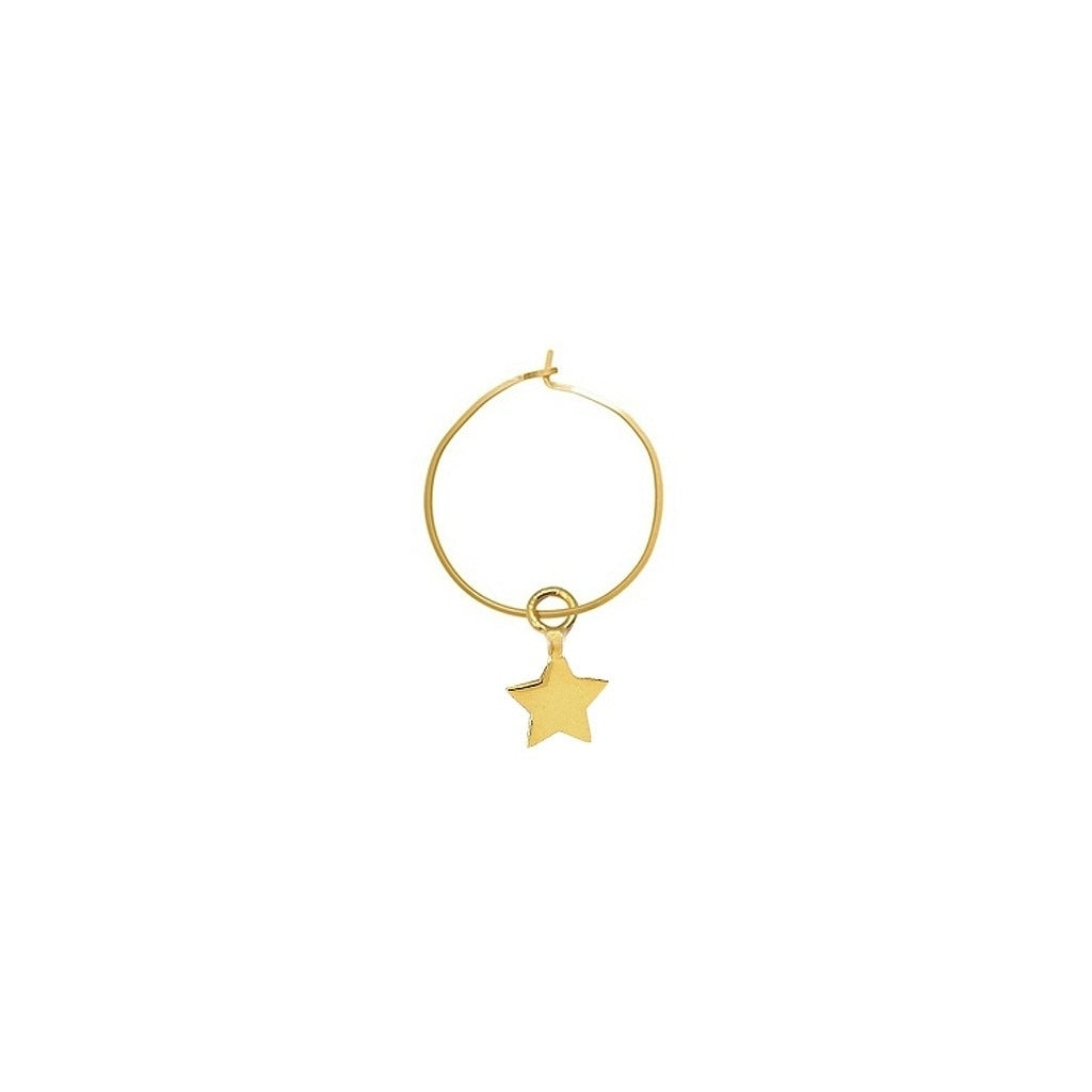 Maisonirem Hoop Star Earrings Gold