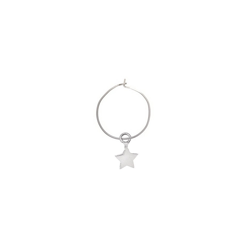 Maisonirem Hoop Star Earrings Silver
