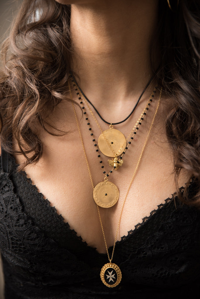 Maisonirem Necklace  Blackbead Coin Dante Necklaces