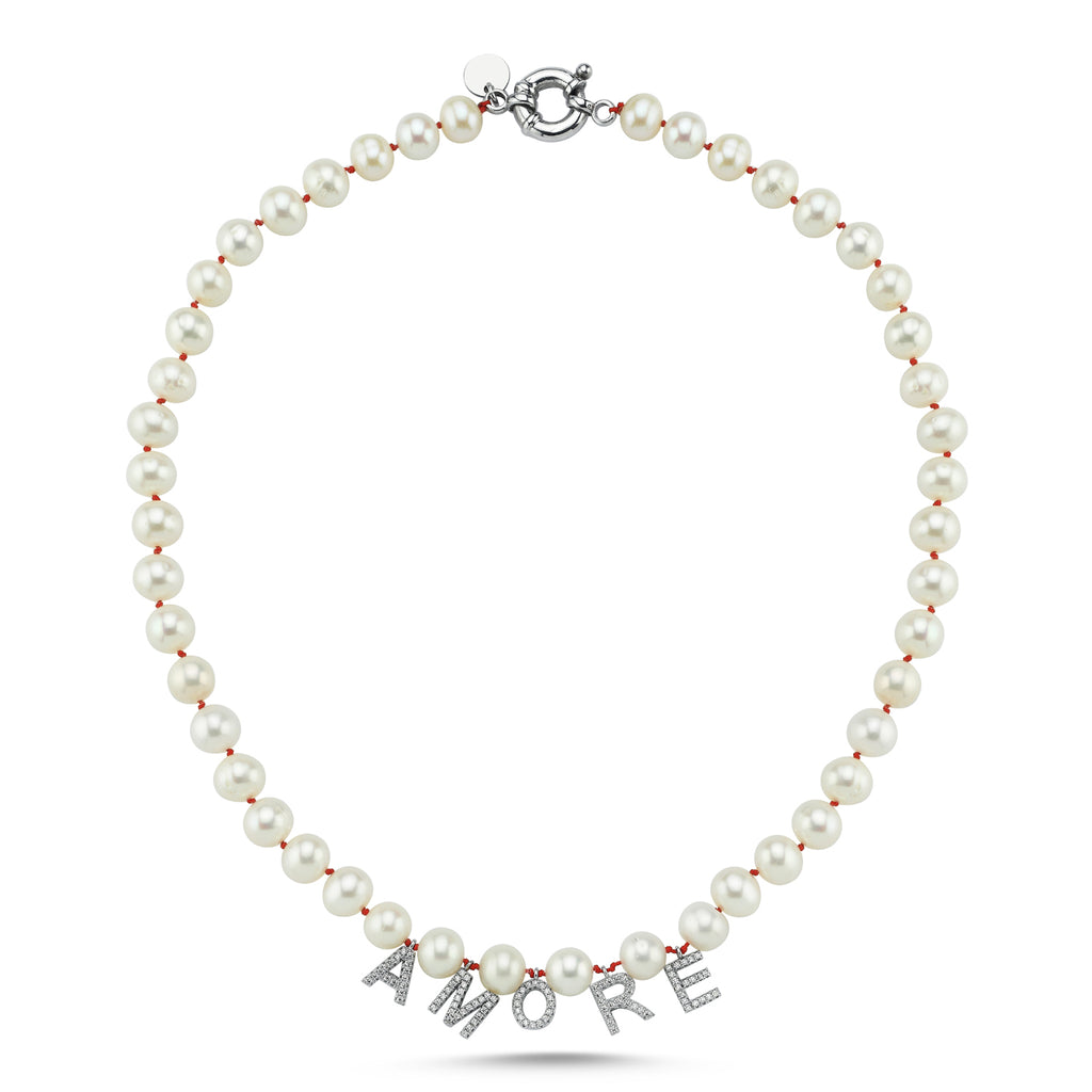 Maisonirem Necklace Pearl Amore Necklaces White