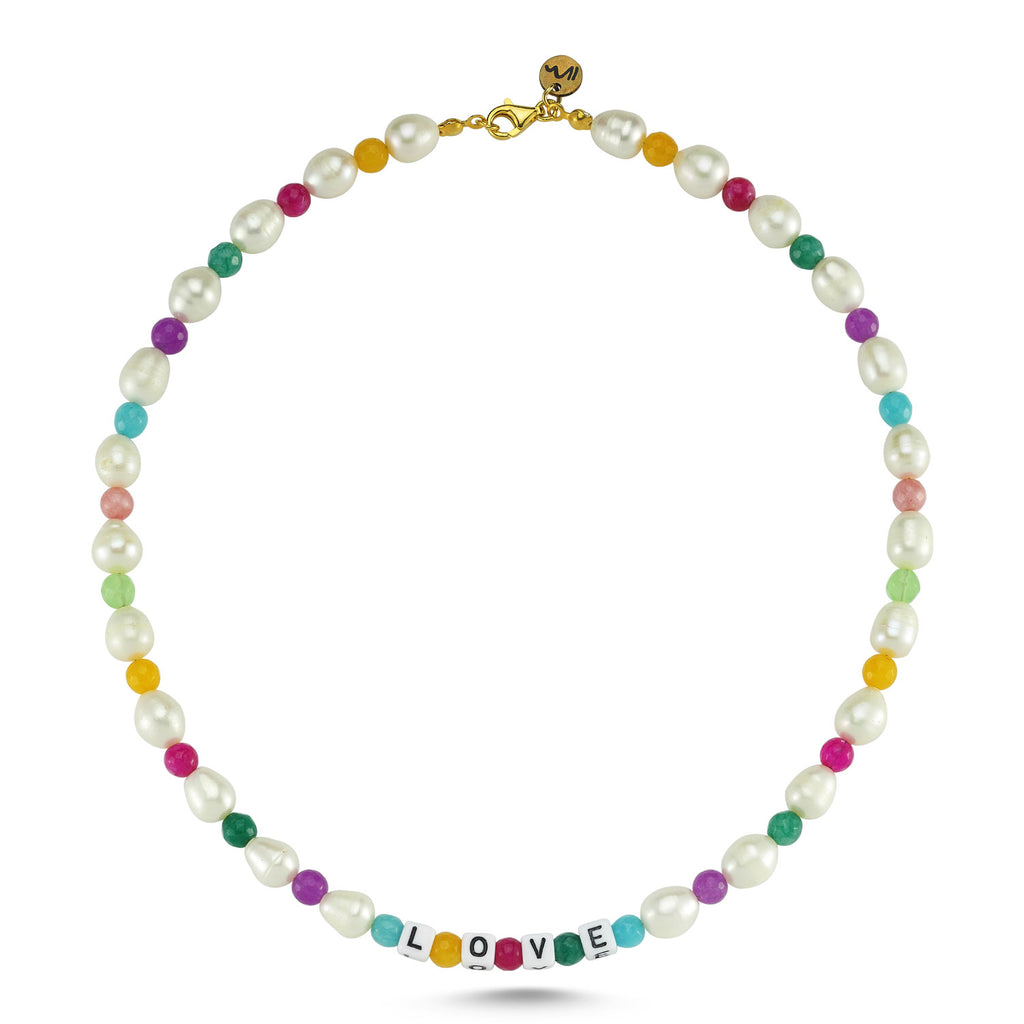 Maisonirem Necklace Rainbow Love Necklaces