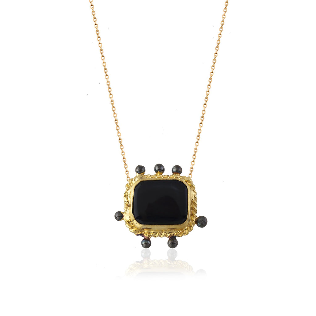 Maisonirem Necklace with square onyx Necklaces