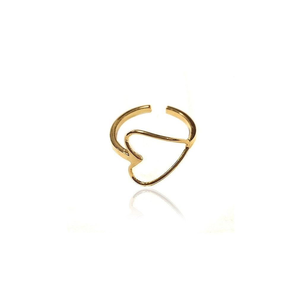 Maisonirem Open Heart Ring Rings Gold
