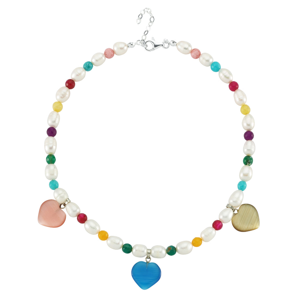 Maisonirem Pearl Rainbow Necklace  Hearts Necklaces Pearls
