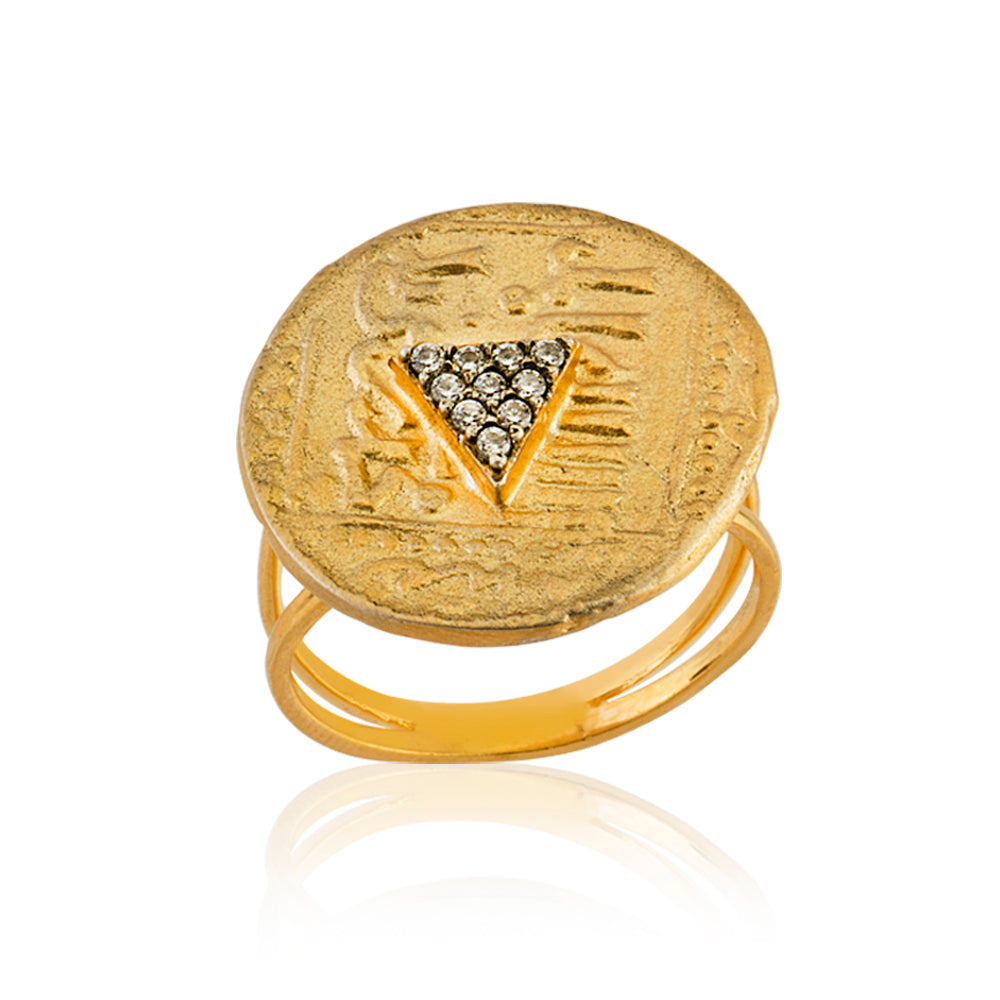 Maisonirem Ring Coin Pyramide Rings
