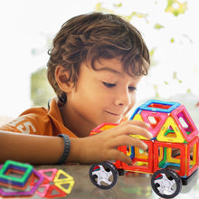 Load image into Gallery viewer, AMOSTING Magnetic Tiles Building Block Educational Toys for Toddlers with Car Wheels