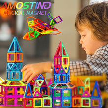Load image into Gallery viewer, AMOSTING Magnetic Blocks Building Blocks Educational Toys Construction Stacking Toy-64 pcs