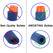 Load image into Gallery viewer, AMOSTING Foam Bullets Refill Dart Pack for N-Strike Elite Blasters Nerf Guns Standard Size–400PCS Blue