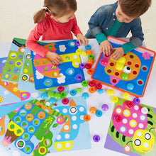 Load image into Gallery viewer, AMOSTING Color Matching Mosaic Pegboard Early Learning Educational Toys for Boys and Girls