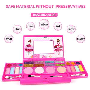 AMOSTING Pretend Makeup for Girls Play Cosmetic Set Make Up Toys Kit Gifts for Kids