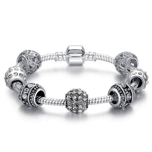 Elegant Crystal Charm Bracelet 50% Off Today