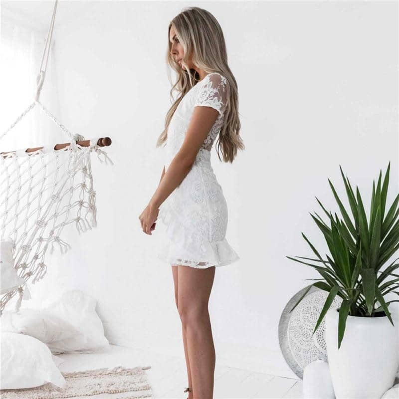 New Arrivals 2019 Casual Lace Sexy Bodycon Sundress Fashion