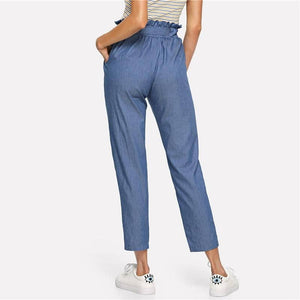 Blue Weekend Casual Belted Pants