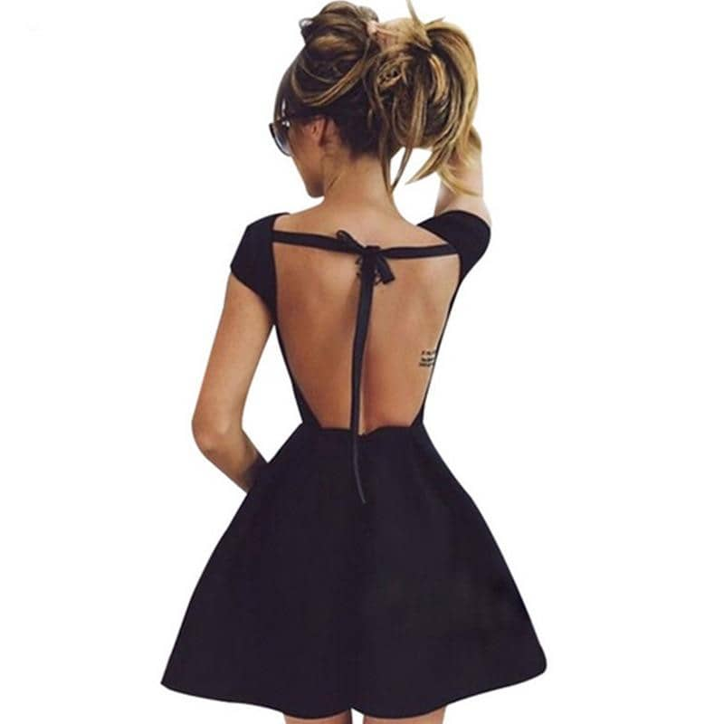 Hot Sexy Club High Quality Tunic Backless Dress