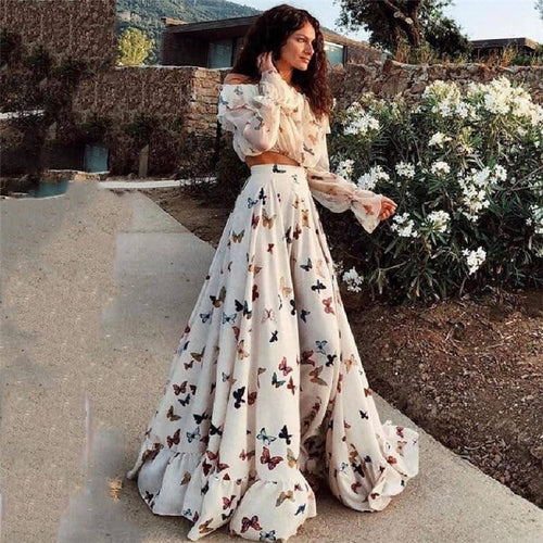 White Maxi Dress Plus Size 2019-Doremon store-LILLY OUTFITS