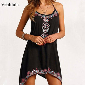 2019 Halter Beach Dress Women Summer Dress-LILLY OUTFITS-LILLY OUTFITS