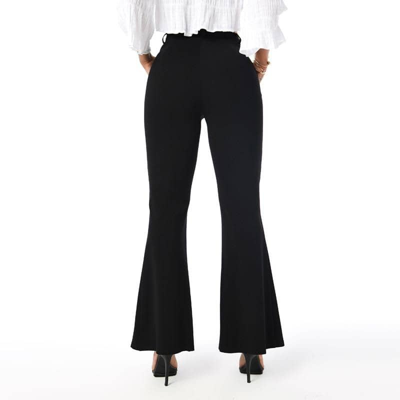 Womens Casual Flare Pants Black Pants 2019