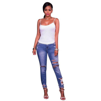 Casual Jeans for Skinny Women Denim Pencil Pants 2019