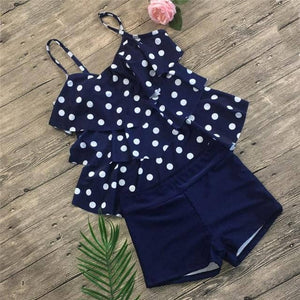 2019 Conservative Swimsuit Women Plus Size Swimwear Tankini-Doremon store-LILLY OUTFITS