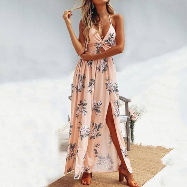 2019 Summer Boho  Beach Long Elegant Dress For Women-LILLY OUTFITS-LILLY OUTFITS