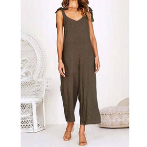 Spaghetti Strap Long Jumpsuit Women Sleeveless 2019-LILLY OUTFITS-LILLY OUTFITS