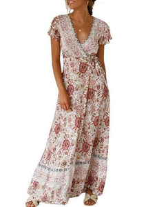 2019 Summer Long Boho Dress Women Maxi Party Dress-LILLY OUTFITS-LILLY OUTFITS