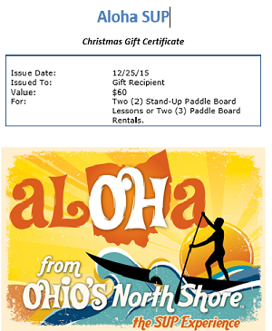 Christmas Gift Certificate - $40.00