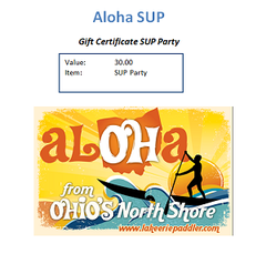 Gift Certificate SUP Party