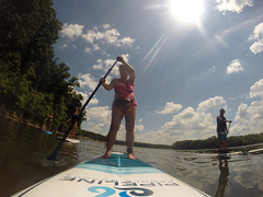 SUP Lesson Findley State Park