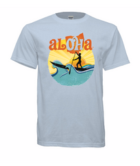 Aloha OH Paddler T-Shirt Light Blue