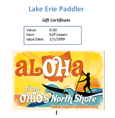 Gift Certificate SUP Lesson