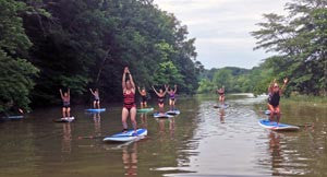 SUP Yoga with Yoga On High at Alum Creek