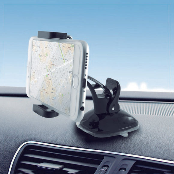 Mobile Phone Holder for Car with Suction Cup 360º Black
