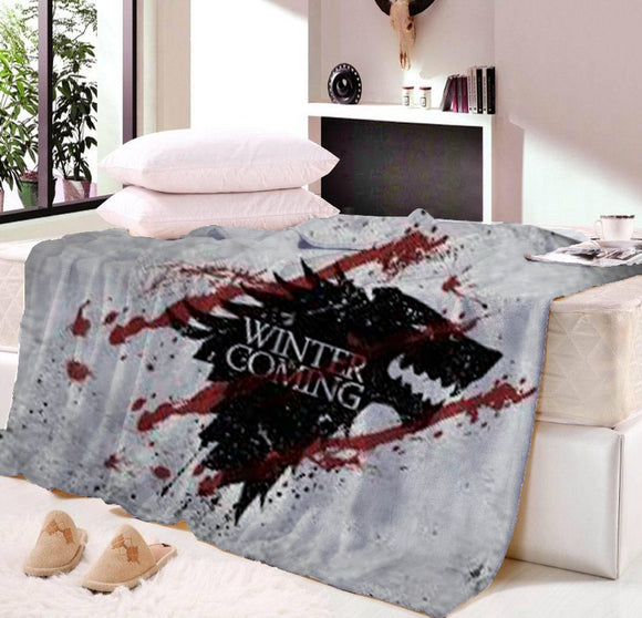 GAME OF THRONES COUVERTURE IMPRIMÉ  PLAID THROW FLANELLE HIVER