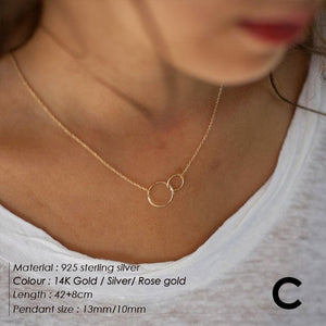 eManco DIY Simple 925 Sterling Silver Necklace Women Statement Personalized Necklace Custom dainty Necklace for women