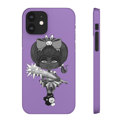 Attitude Goth Dark Style Snap Case in Purple