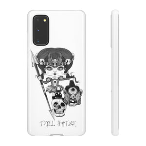 Troll Hater Goth Light Style Snap Case in White
