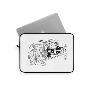 Troll Hater Outline Style Laptop Sleeve