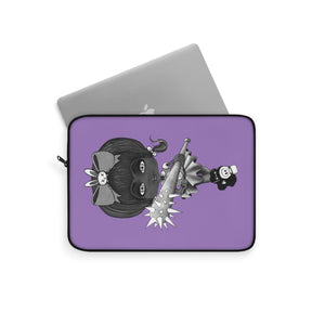 Attitude Goth Dark Style Laptop Sleeve Purple
