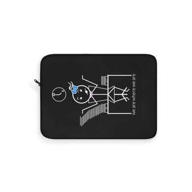Female Office Worker Laptop Sleeve Dark
