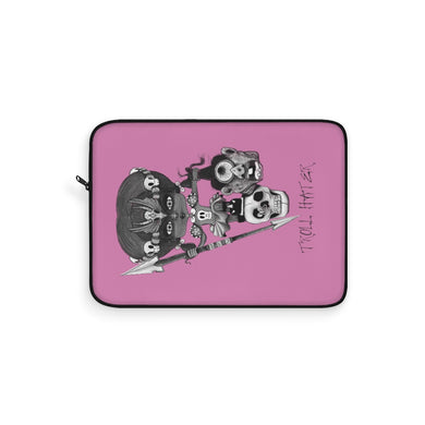 Troll Hater Goth Dark Style Laptop Sleeve Pink