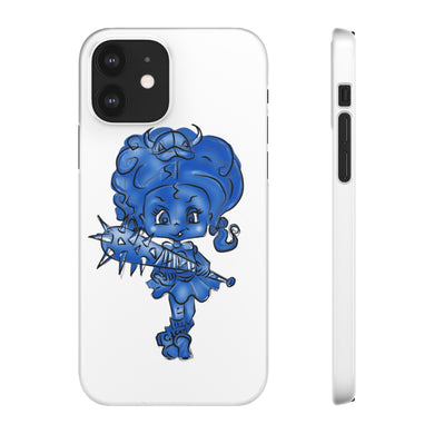 Attitude Blue Fill Style Snap Case in White